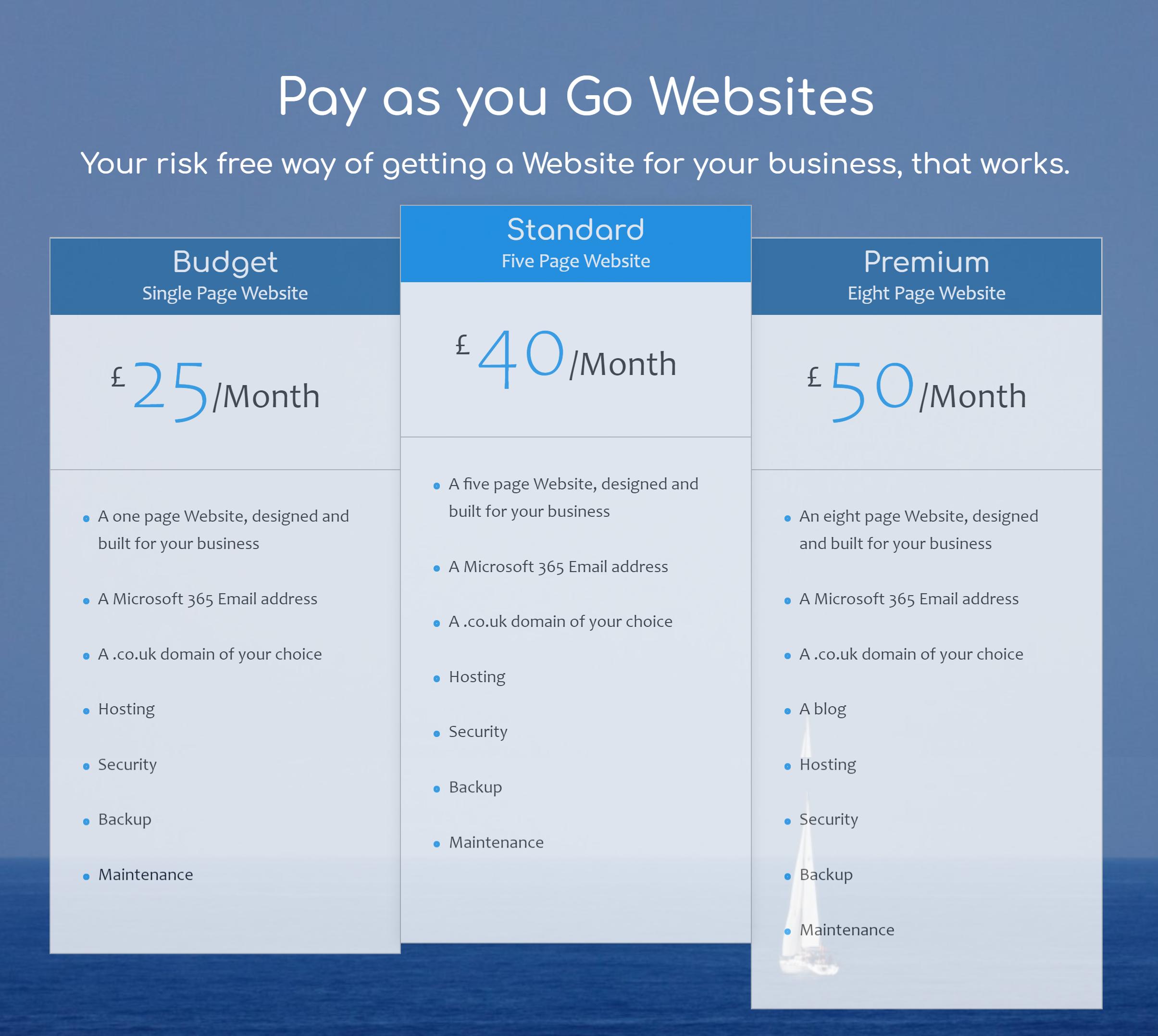 Pay as yo go websites, no tie in